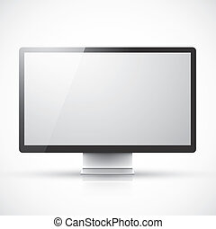 Modern computer screen vector illus