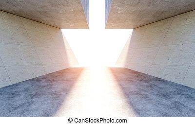modern concrete abstract interior