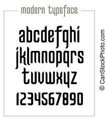 Modern condensed sanserif narrow font - Modern minimalist ...