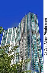 Modern Condominium - High rise building in Seoul Korea- a ...
