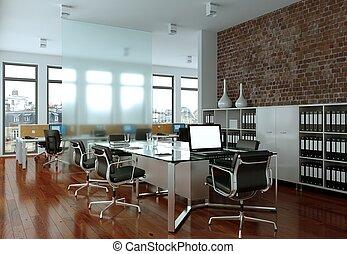 Modern conference room interior design. 3d rendering