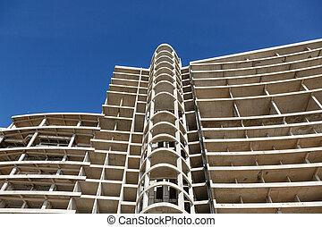 Modern construction of concrete building