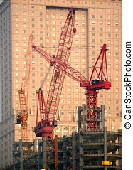 Modern Construction with Cranes