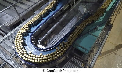 Modern conveyor for beer bottling machine