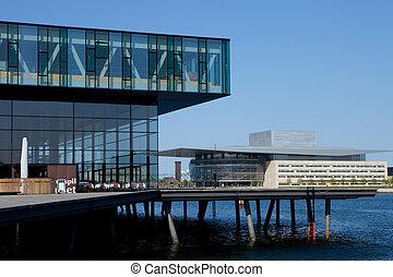 Modern Copenhagen - Two modern buildings in Copenhagen,...