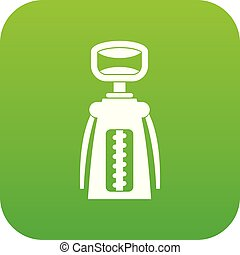 Modern corkscrew icon digital green for any design isolated...
