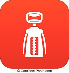 Modern corkscrew icon digital red for any design isolated on...