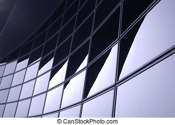 Modern Corporate Facade - -- resembling an abstract pattern...