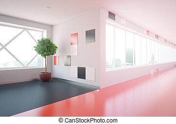 Modern corridor side