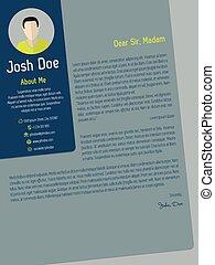 Modern cover letter cv resume template