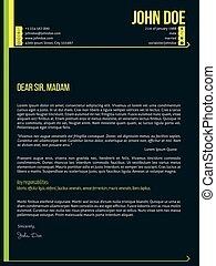 Modern cover letter cv resume template with arrows