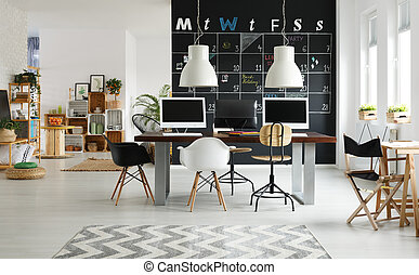 Modern coworking space