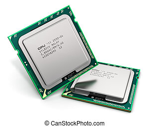Modern CPU - Modern central computer processors CPU isolated...