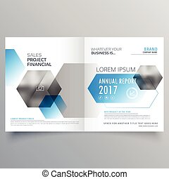 modern creative business cover page template with abstract geometric shapes