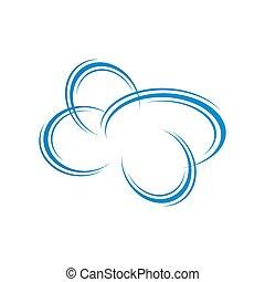 modern creative cloud Logo design vector icon illustration