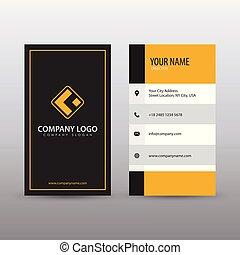 Creative letterhead template with yellow and black geometric modern creative vertical clean business card template with yellow black color fully editable vector spiritdancerdesigns Choice Image