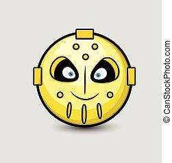 Creepy Robotic Alien Smiley