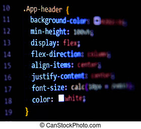 Modern CSS3 cascade style sheet programming code for HTML ...