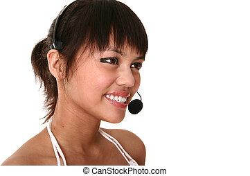Modern Customer Service Smiling