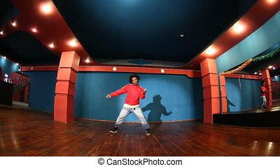 African American man performing modern youth dance