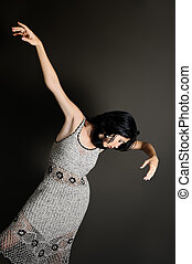 Modern dance - Portrait of young contemporary dancer woman
