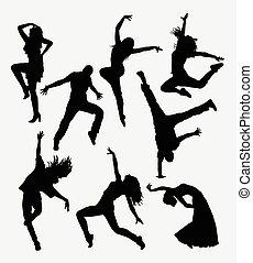 Modern dance silhouette