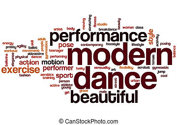 dance music word cloud concept