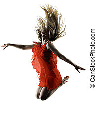 modern dancer dancing woman isolated silhouette