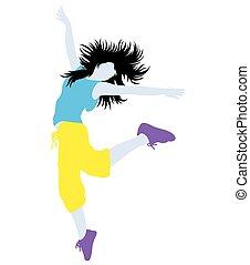 Modern Dancer Girl Silhouette