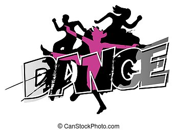 Modern dancing grunge background