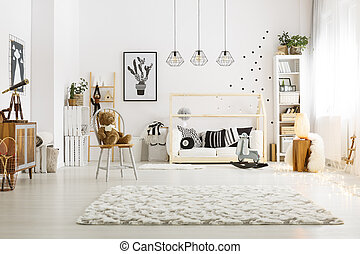 Modern decor of room
