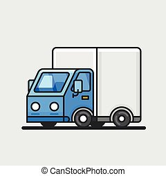 Modern delivery truck icon. Transportation concept.