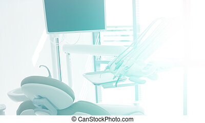Modern dental cabinet with white color