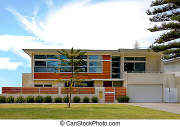 Modern desgined home with cubic style - View of a modern ...