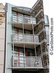 Modern design apartments on Kruisstraat street in Haarlem, the Netherlands