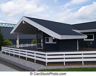 Modern design attractive wooden home - Modern style designed...