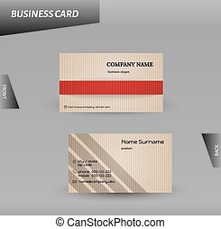 modern design cardboard business ca