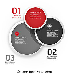 Modern Design Circle template / can be used for infographics / numbered banners / horizontal cutout lines / graphic or website layout vector