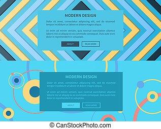 Modern Design Collection on Vector Illustration