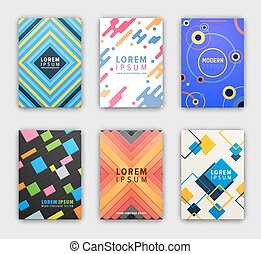 Modern Design Cover Collection Vector Illustration