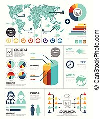 Modern design elements infographic template / can be used...