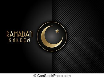 Modern black and gold design for Ramadan Kareem