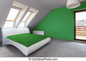 Modern design in bedroom