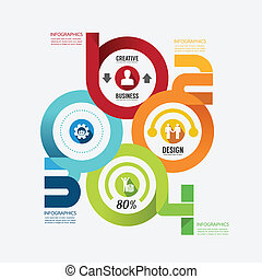Modern Design infographic circle template. can be used for infogr