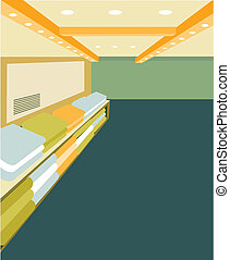 this illustration is the interior landscape.
