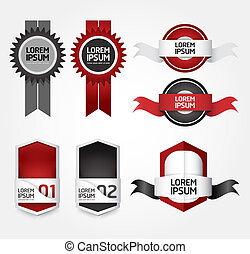 Modern Design Labels / can be used for infographics / numbered banners / graphic or website layout vector/Horizontal