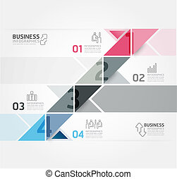 Modern Design Minimal style infographic template / can be...