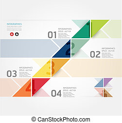 Modern Design Minimal style infographic template / can be ...