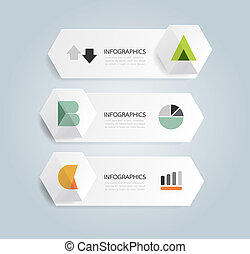 Modern Design Minimal style infographic template with alphabet / can be used for infographics / numbered banners / horizontal cutout lines / graphic or website layout vector