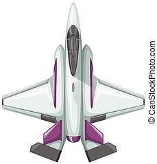 Modern design of fighting jet illustration